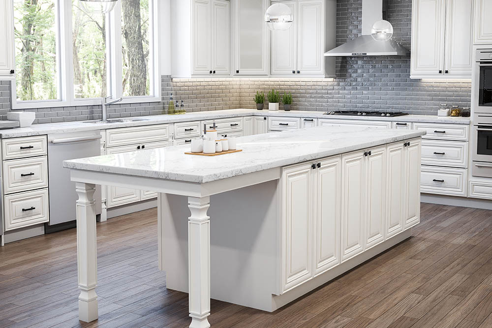 Cabinet Country Process, Arlington Oatmeal Kitchen Cabinets
